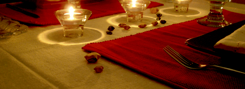 Mesa de navidad estrellas de papel