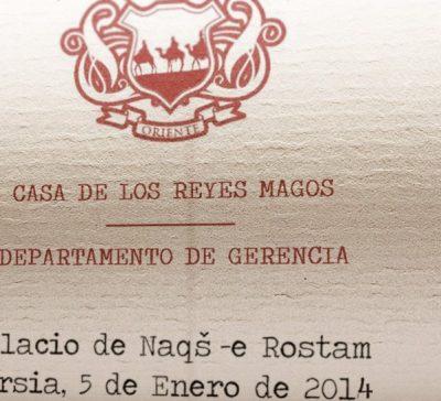 Contrato de uso de los Reyes Magos