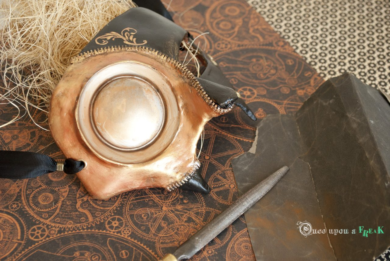 antifaz steampunk metalico