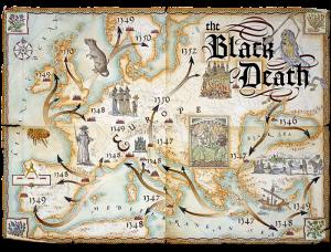mapa expansión de la peste negra en el siglo xiv