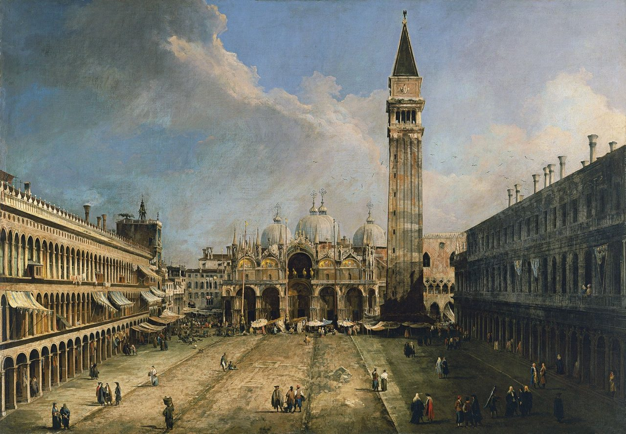 Canaletto, La plaza de San Marcos en Venecia c. 1723-1724