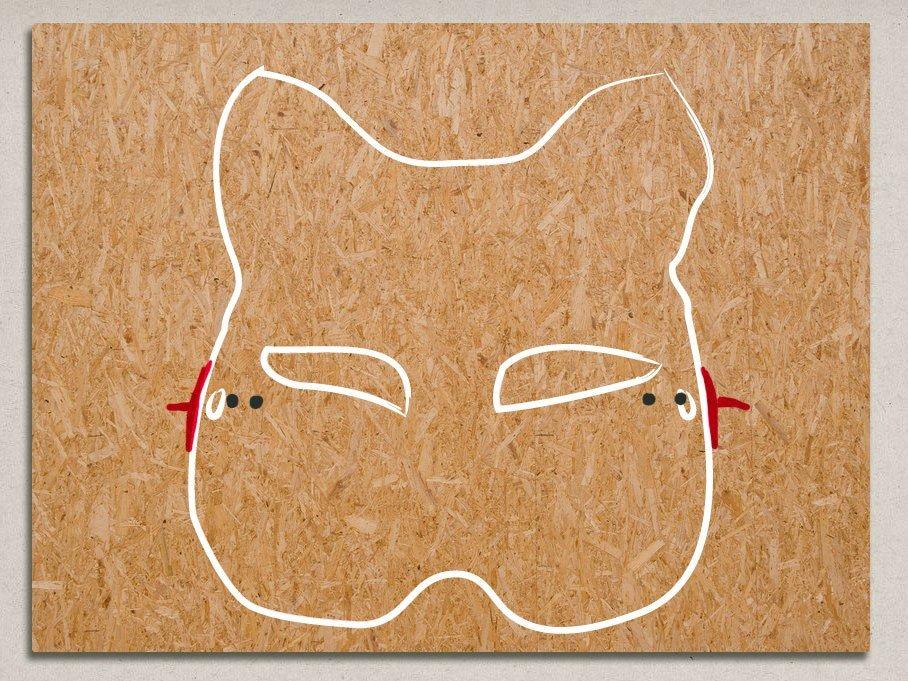 cómo montar mascara veneciana en cuadro