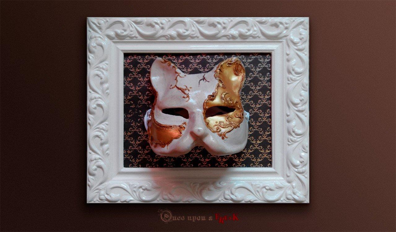 Cómo enmarcar una máscara veneciana   Máscaras venecianas Once upon ...