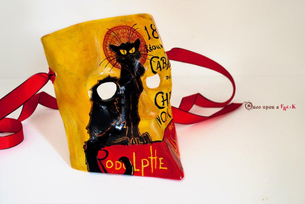 Máscara veneciana el gato negro
