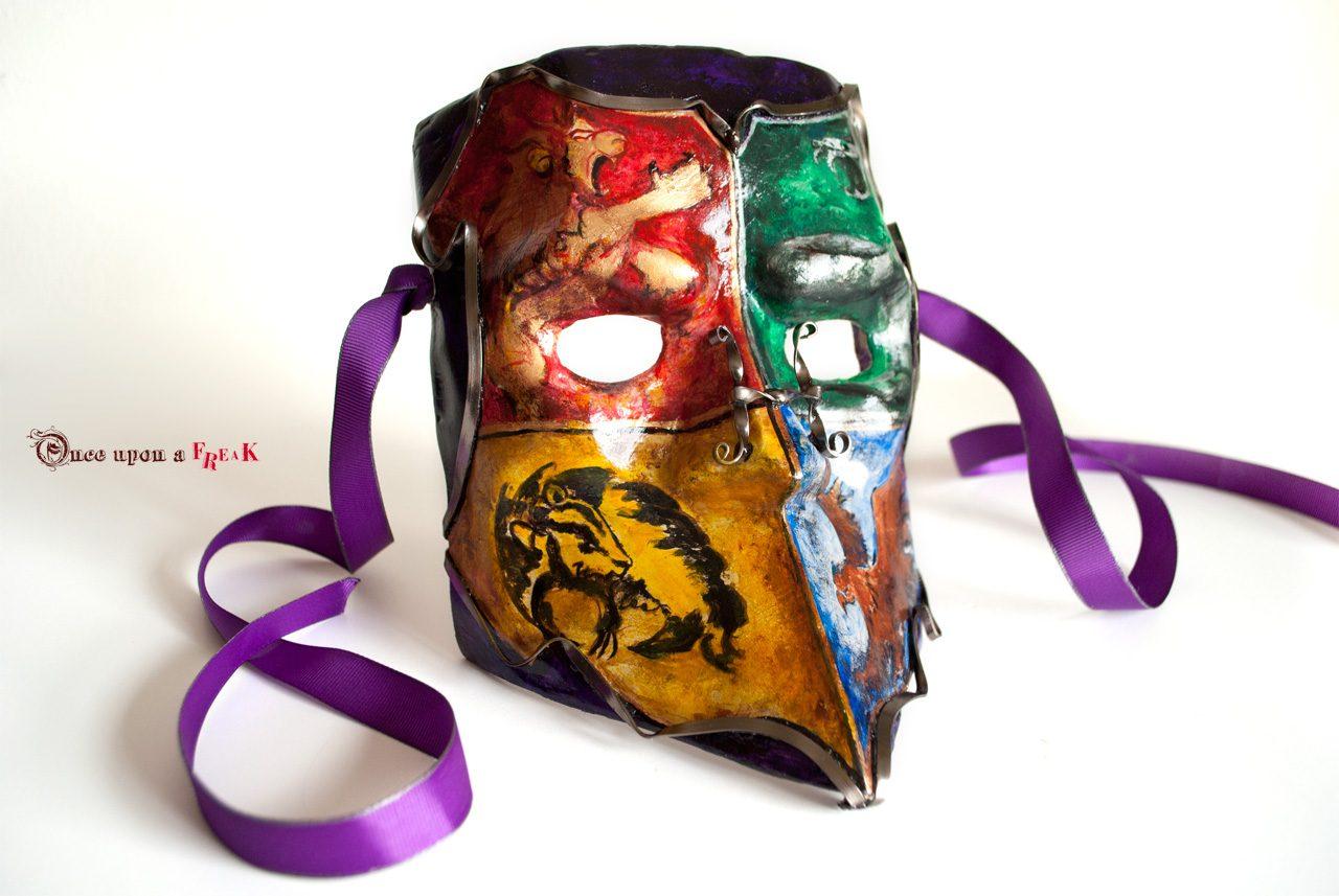 mascara veneciana bauta Hogwarts pintada a mano