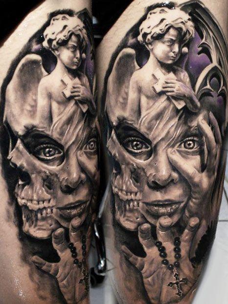 Tatuaje máscara Proki angel