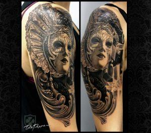 Tatuaje mascara veneciana  dr pepper