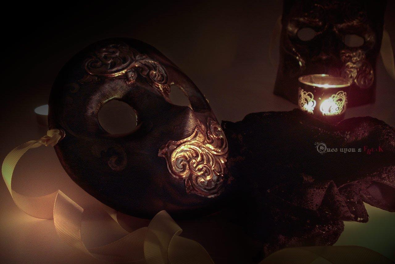 máscaras venecianas moretta y bauta rococo