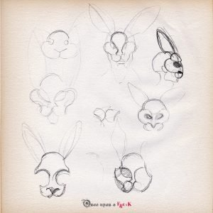 boceto-mascara-conejo