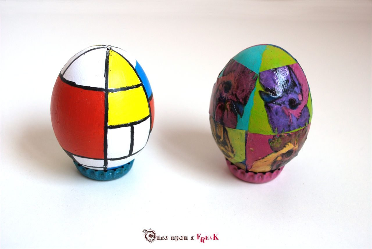 mondrian and warhol easter eggs