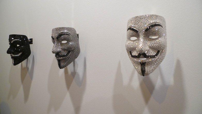 mascaras diamantes v de vendetta feria Arco