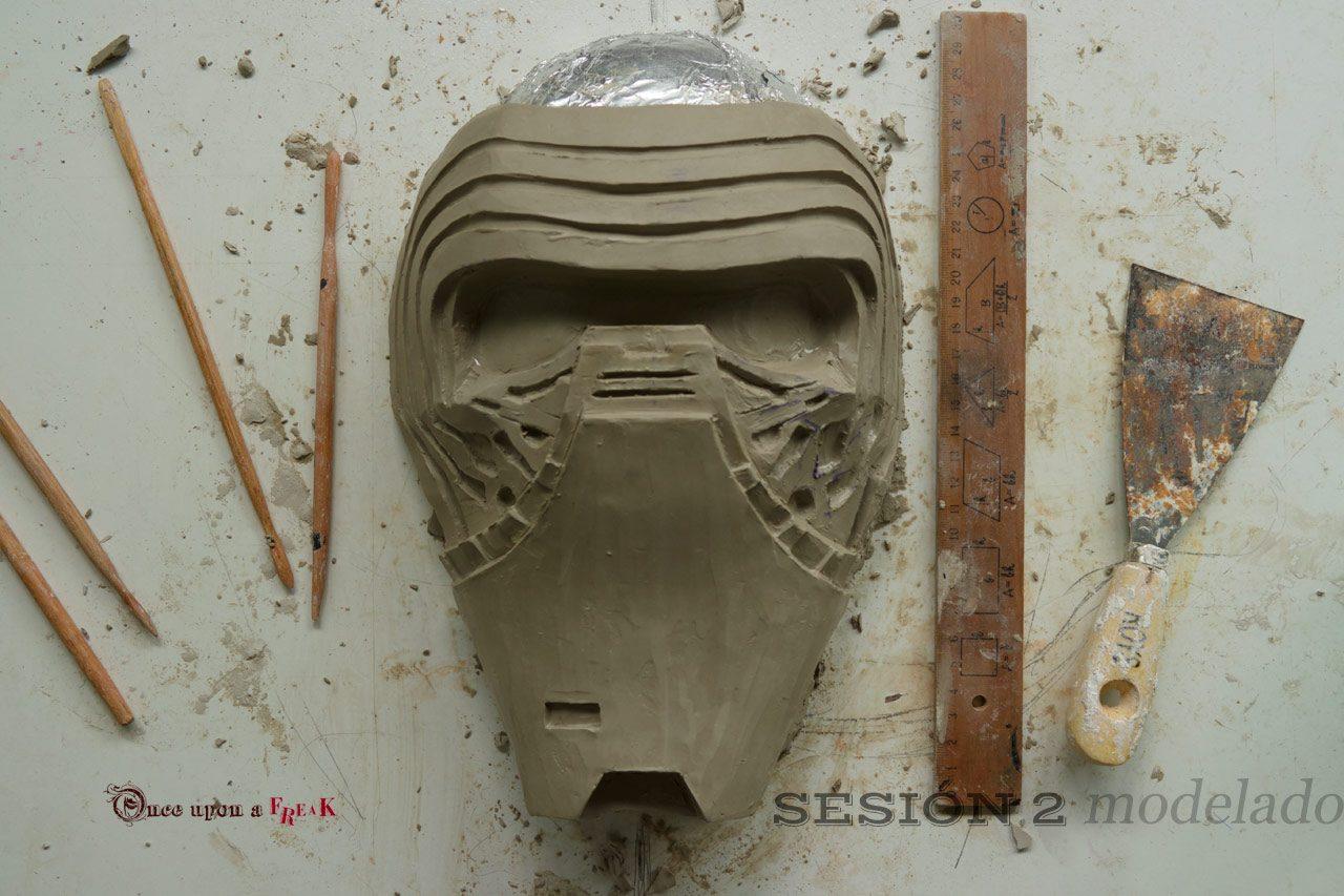 modelado en barro mascara star wars