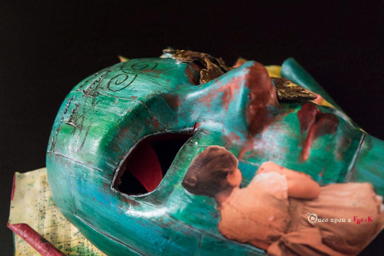 mascara personalizada cartel obra de teatro aetas