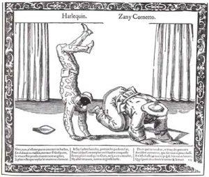 Ilustración de arlequin frances