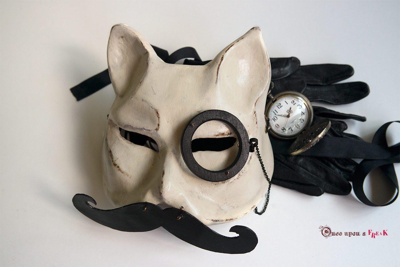 00a41a4546 Máscara gato victoriano bigote