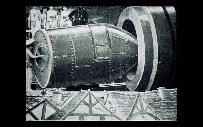 cohete carton piedra viaje a la luna