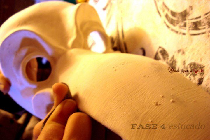preparacion capa estuco medico de la peste