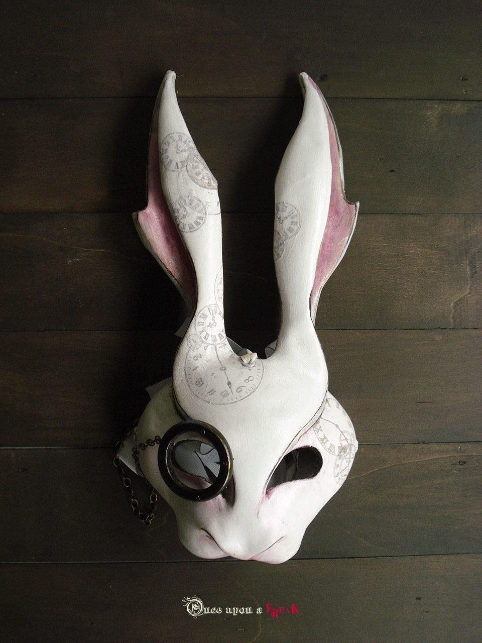 mascara personalizada conejo alicia