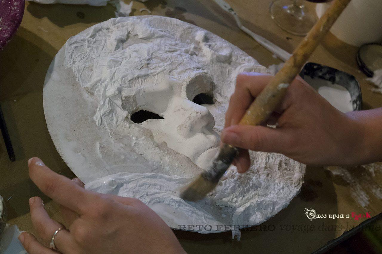 máscara veneciana hecha a mano viaje a la luna hermanos melies