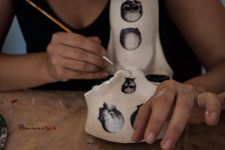 mascarera pintando a mano medico de la peste