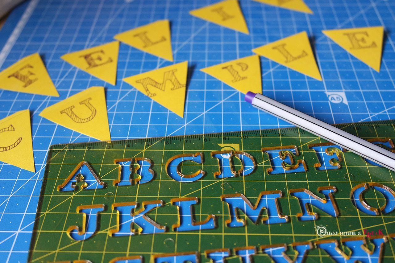 mini banderas letras